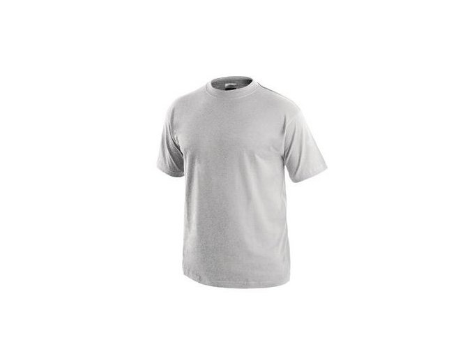 Pánské tričko s krátkým rukávem, světle šedé