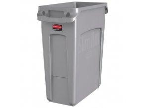 Plastový odpadkový koš Rubbermaid Slim Jim na tříděný odpad, objem 60 l