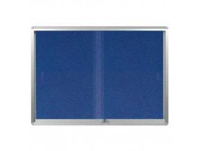 Textilní vitrína hluboká, 8 x A4