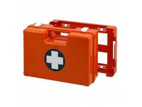 Plastový kufr první pomoci se stěnovým držákem, 25 x 33,5 x 12,3 cm