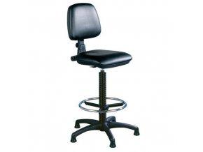 Zvýšená pracovní židle Sono s kluzáky