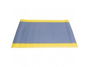 Protiúnavová průmyslová rohož s rýhovaným povrchem, 150 x 90 cm