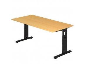 Kancelářský stůl Baron Minos, 160 x 80 x 65 - 85 cm, rovné provedení