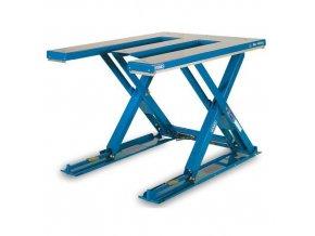 Hydraulický zvedací stůl do 2 000 kg, E deska 140 X 120 cm
