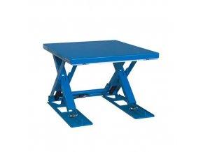 Hydraulický zvedací stůl do 2 000 kg, deska 140 X 120 cm
