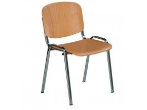 Dřevěná jídelní židle Sylva Chrom