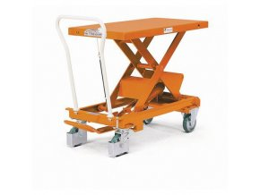 Mobilní hydraulický zvedací stůl Bishamon, do 800 kg, deska 101 x 51,8 cm