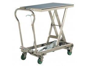 Mobilní hydraulický zvedací stůl Bishamon, do 200 kg, deska 81,3 x 50 cm