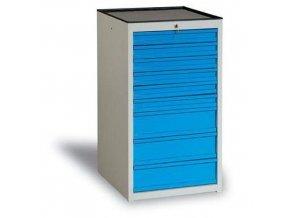 Dílenská zásuvková skříň, 108 x 59 x 62 cm, 9 zásuvek