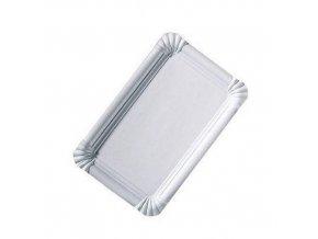 Bílé papírové tácky