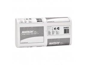 Papírové ručníky Katrin Plus One Stop 3vrstvé, 90 útržků, šedé, 21 ks