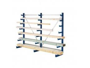 Jednostranný konzolový regál, základní 200 x 405 x 59 cm, 4 320 kg, 24 konzolí