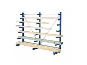 Jednostranný konzolový regál, základní 200 x 540 x 59 cm, 5 400 kg, 30 konzolí