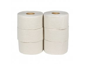 Toaletní papír Basic 1vrstvý, 19 cm, 167 m, šedý, 6 rolí