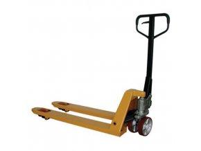 Paletový vozík, do 2 000 kg, s rychlozdvihem, polyuretanová řídicí kola