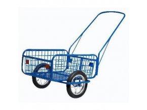Dvoukolový vozík s dušovými koly 300 mm, do 120 kg