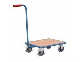 Plošinový vozík s madlem, do 250 kg