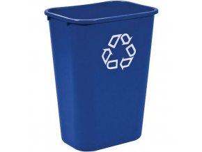 Plastový odpadkový koš Rubbermaid Soft, objem 27 l