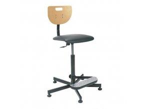Zvýšená pracovní židle Werek Plus s kluzáky