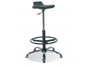 Zvýšená laboratorní stolička Worker Metal