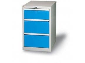 Zásuvkový kontejner, 81 x 50 x 70 cm , 3 zásuvky