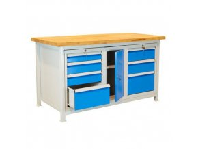 Svařovaný dílenský stůl Lope, 85 x 150 x 75 cm