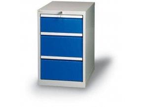 Zásuvkový kontejner, 66 x 50 x 70 cm, 3 zásuvky