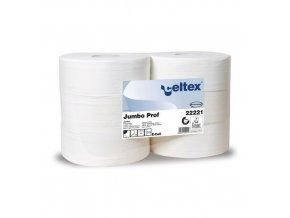 Toaletní papír Celtex Lux Jumbo 2vrstvý, 27 cm, 1780 útržků, bílý, 6 rolí