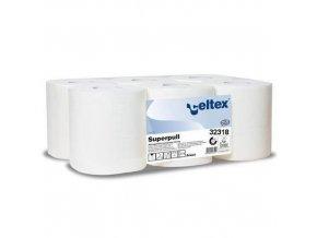 Papírové ručníky Celtex Maxi Smart 2vrstvé, 450 útržků, bílé, 6 ks