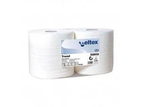 Průmyslové papírové utěrky Celtex White Trend 2vrstvé, 800 útržků, 2 ks