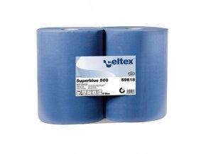 Průmyslové papírové utěrky Celtex Super Blue 3vrstvé, 500 útržků, 2 ks