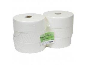 Toaletní papír Eko 2vrstvý, 28 cm, 300 m, bílý, 6 rolí