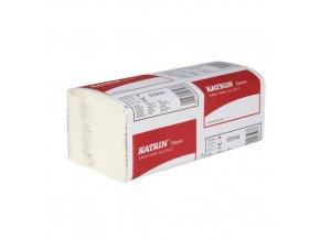 Papírové ručníky Katrin Classics Zig Zag 2vrstvé, 150 útržků, bílé, 20 ks
