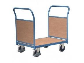 Plošinový vozík se dvěma madly s plnou výplní, do 400 kg