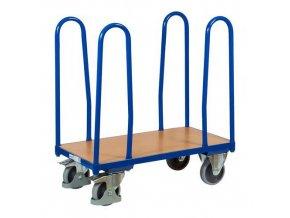 Plošinový vozík se čtyřmi rohovými podpěrami, do 400 kg