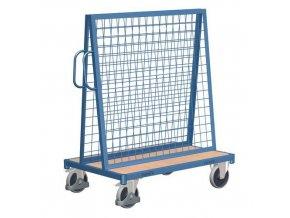 Vozík s nástavbou pro zavěšení materiálu, s vrchní policí, do 500 kg