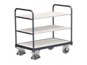 Antistatický policový vozík, do 250 kg, 3 police