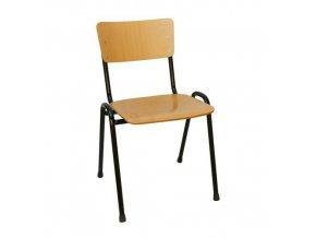 Dřevěná jídelní židle Black