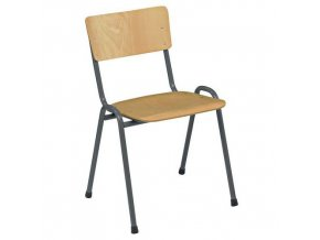Dřevěná jídelní židleAntracit