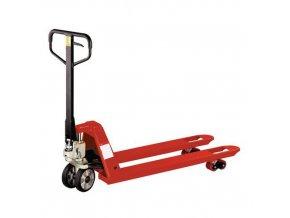 Paletový vozík, do 2 500 kg, gumová řídicí kola