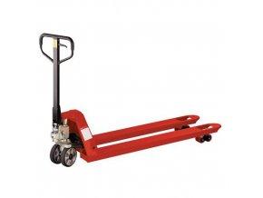 Paletový vozík s dlouhými vidlicemi, do 2 000 kg, gumová řídicí kola