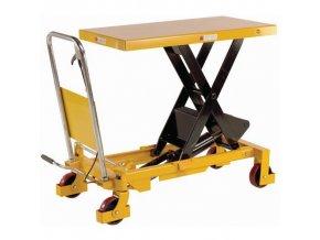 Mobilní hydraulický zvedací stůl, do 800 kg, deska 100 x 51,5 cm