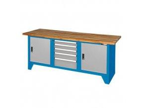 Svařovaný dílenský stůl Redig, 88 x 200 x 70 cm