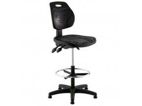 Zvýšená pracovní židle Softy s kluzáky
