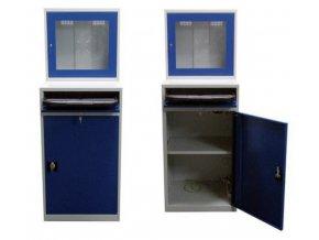 Dílenská skříň pro PC, 175 x 64 x 63 cm, bez vintilátoru