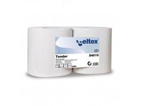 Průmyslové papírové utěrky Celtex Tender 500 2vrstvé, 500 útržků, bílý, 2 ks