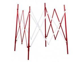 Čtvercová kovová mobilní zábrana, skládací, 1 000x 100 cm