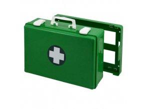 Plastový kufr první pomoci se stěnovým držákem, 27 x 40 x 14 cm