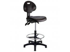 Zvýšená pracovní židle Nelson ASY s kluzáky
