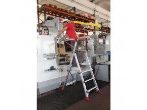 Teleskopický hliníkový plošinový žebřík, 5 stupňů